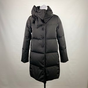 Kate Spade Funnel Neck Puffer Coat with Bow Detail